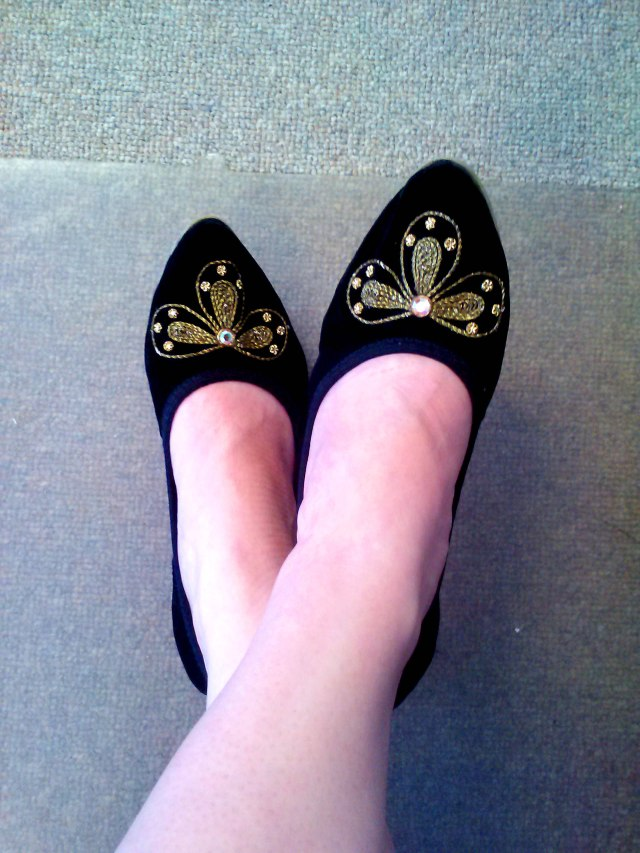 Pretty little shoes.