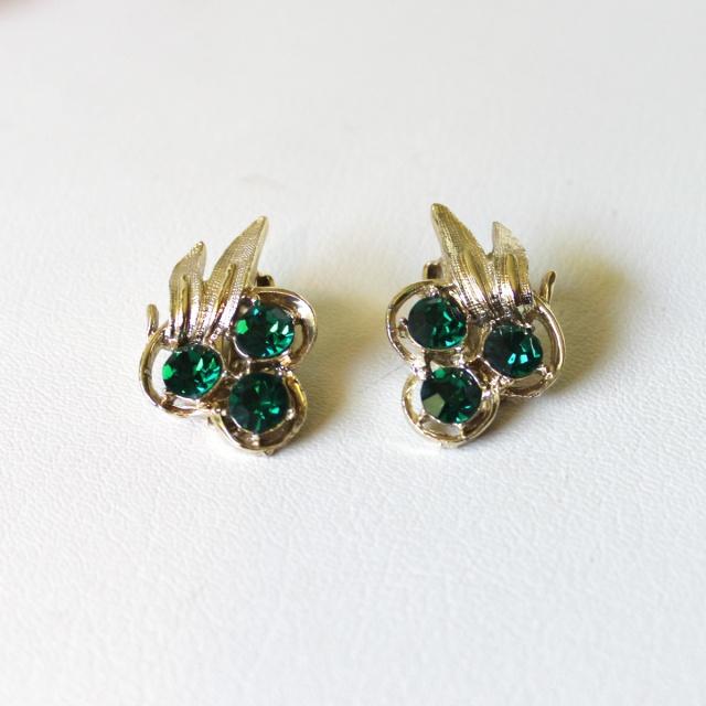 Emerald Rhinestone Berries 2