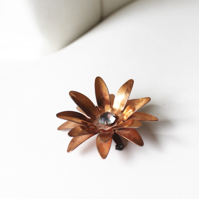 Copper Flower Pin 3