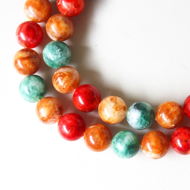 Green Orange Red Necklace 4