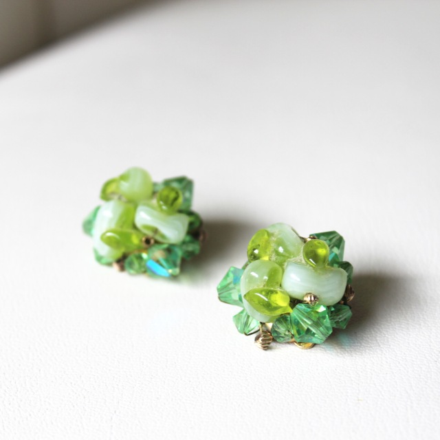 Green Stone Earrings 1