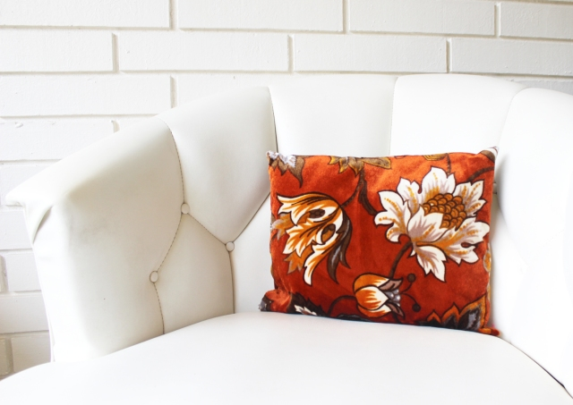 Rust Floral Pillow 3
