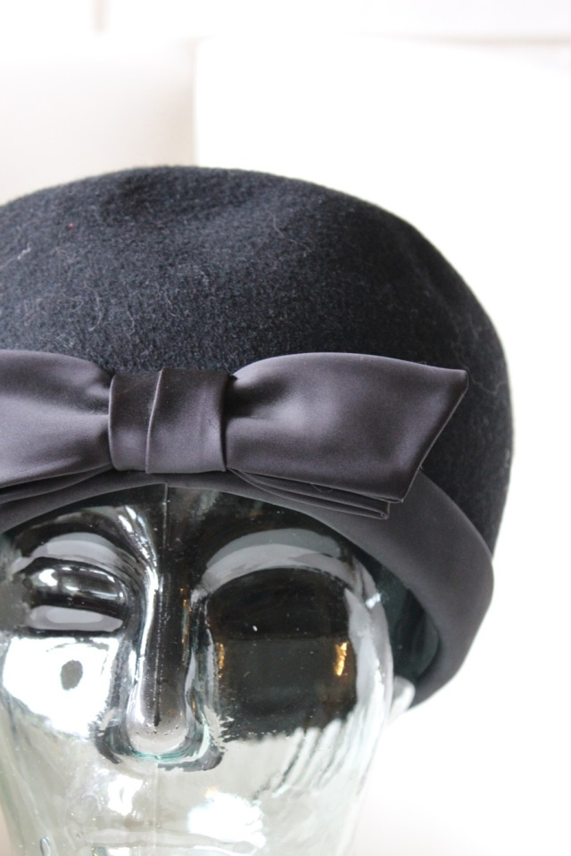 Black Wool with Satin Bow 2