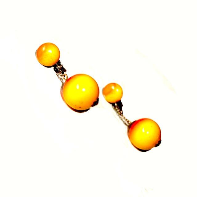 Yellow and Orange Drop Earrings 1