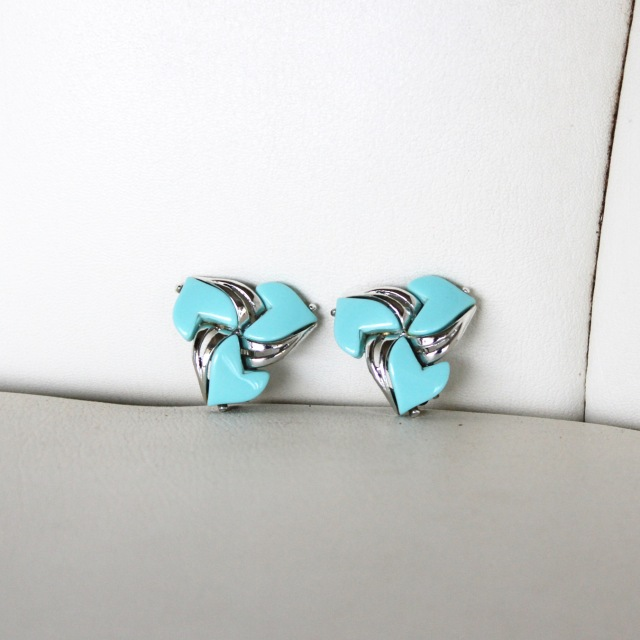 Turquoise Pin Wheel Earrings 1