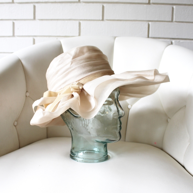 Cream Ruffle Hat 4