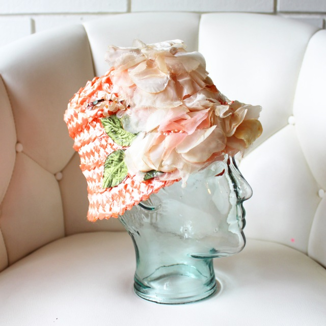 Peach Raffia Tiki Hat 4